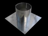 Montageplatte aus Edelstahl mit Aufsteckrohr für gemauerte Schornsteine DN 180